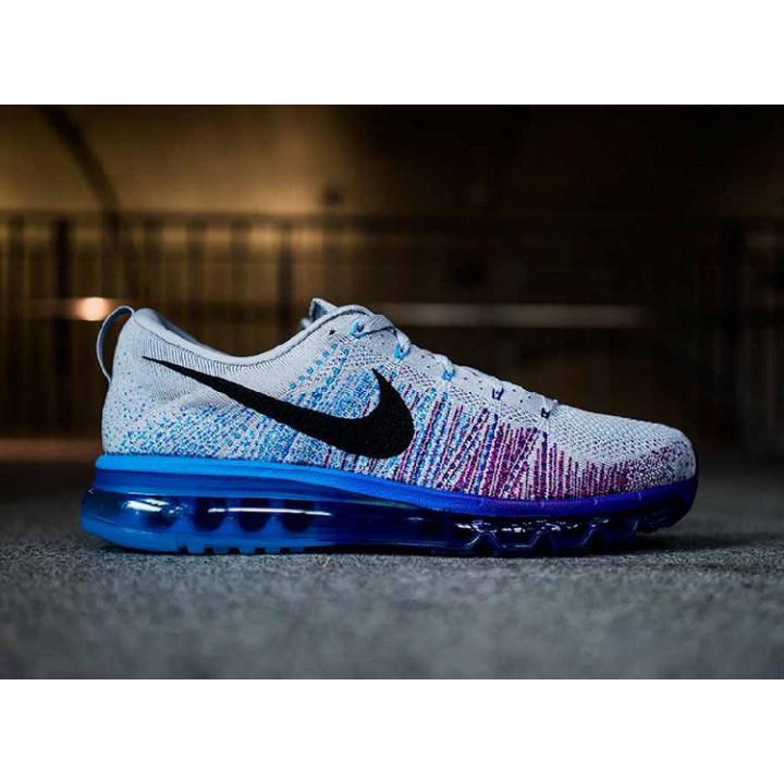 Nike flyknit Max 2014 grey/blu